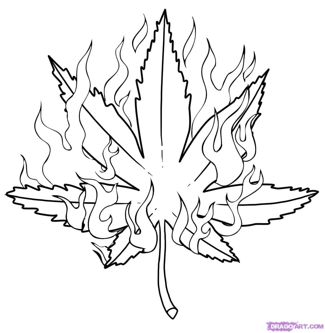Leaves To Color And Print
