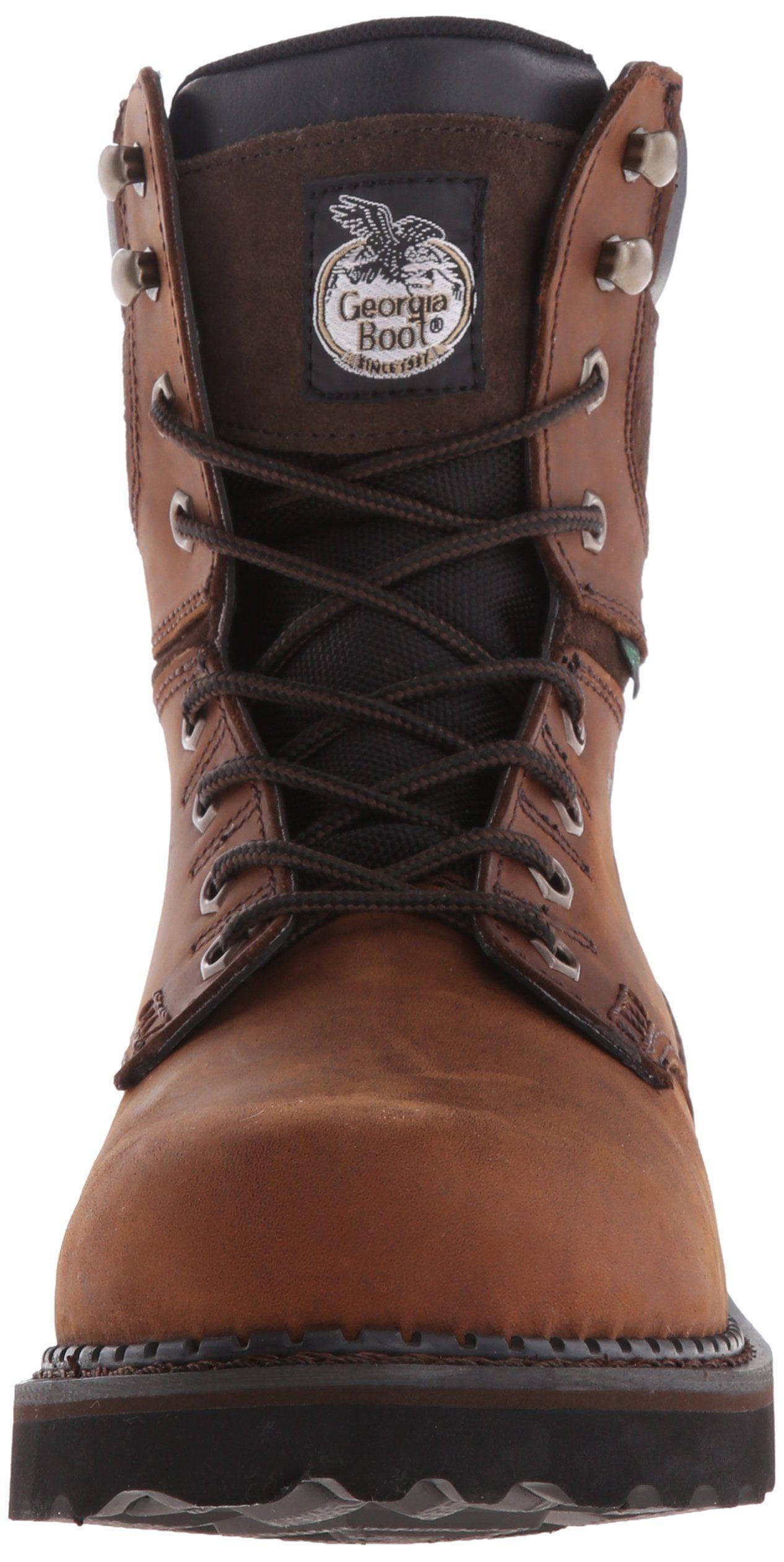 Mens Brookville 8 M Work Boot Dark Brown 8.5 W US
