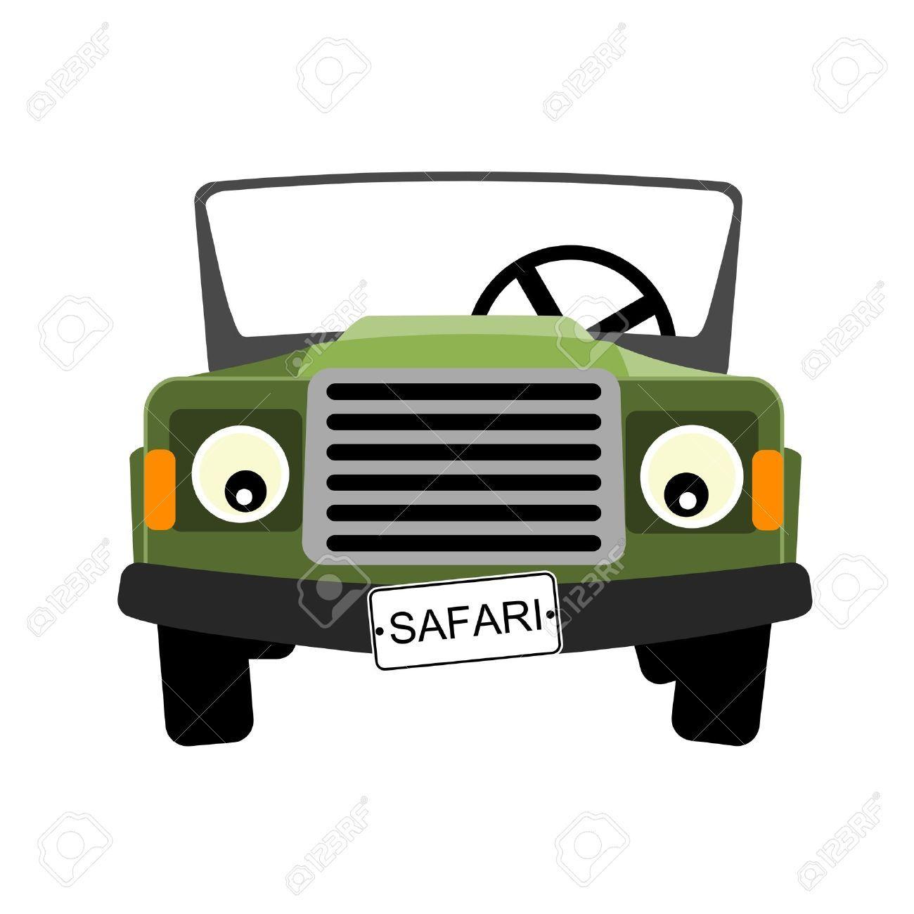 Front Safari Jeep Clipart
