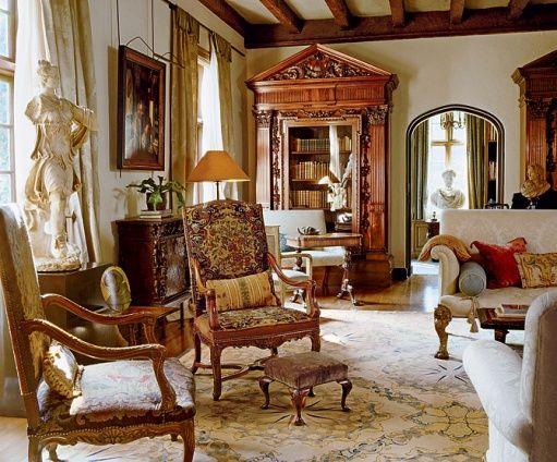 Pin By Stephanie Wright On D R E A M H O M E Tudor Revival Interior House Design Interior Living room queen anne furniture