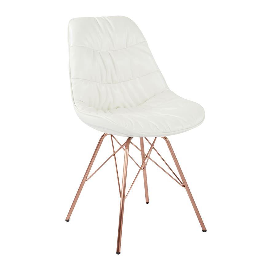 Avenue Six Langdon Dining Chair White Desk Chair Mid Century Chair Chair