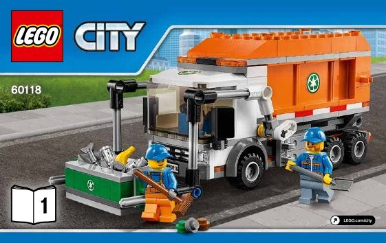 View Lego Instructions For Garbage Truck Set Number 60118 To Help