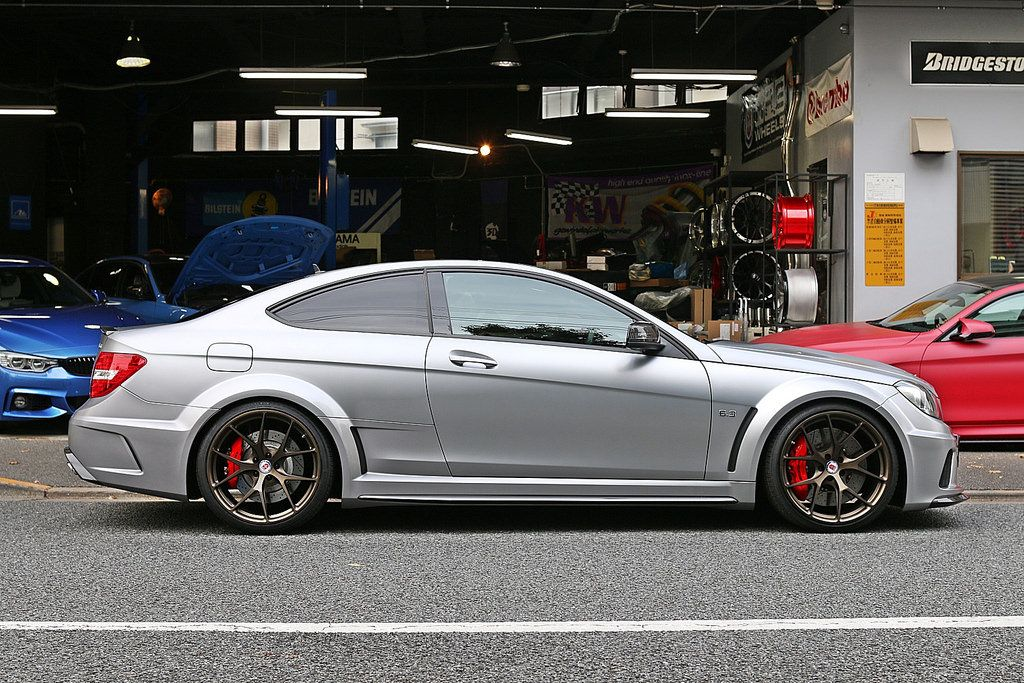 Mercedes Benz C63 Amg Black Series With Hre P101 In Satin
