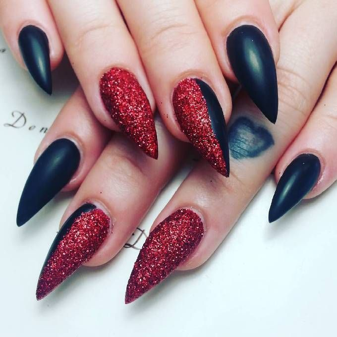 30 Fabulous Pointy Nail Designs To Try Pointy Nail Designs