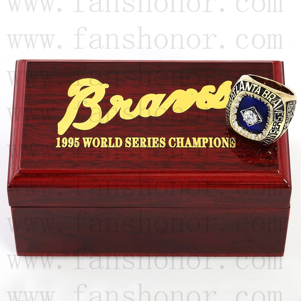 Custom Mlb 1995 Atlanta Braves World Series Championship Ring Baseball Atlanta Braves World Series Championship Rings Atlanta Braves