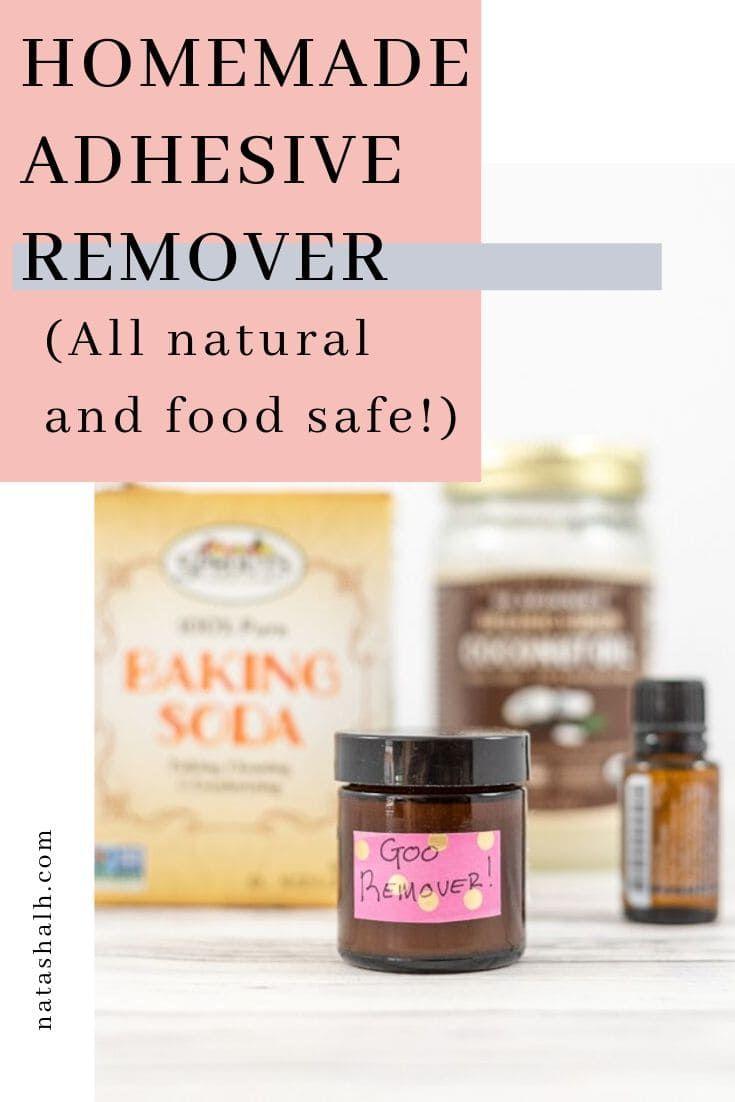 Homemade adhesive remover natural and nontoxic
