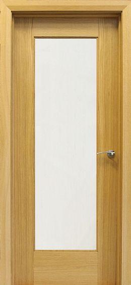 Shaker 1 Lite White Oak Door 40mm Oak Doors Internal Doors Walnut Doors