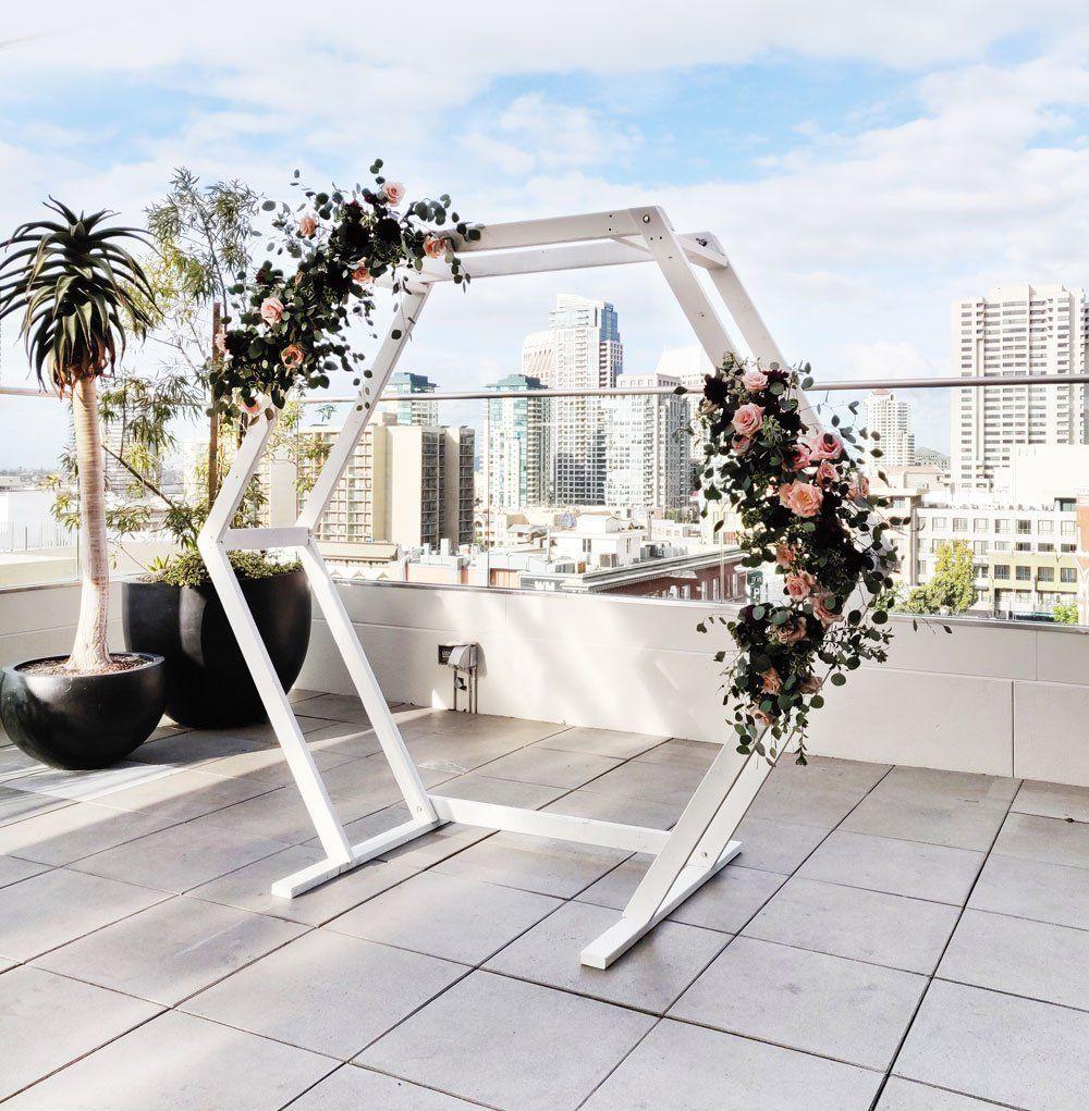 Hexagon ceremony arch in 2020 ceremony arch wedding