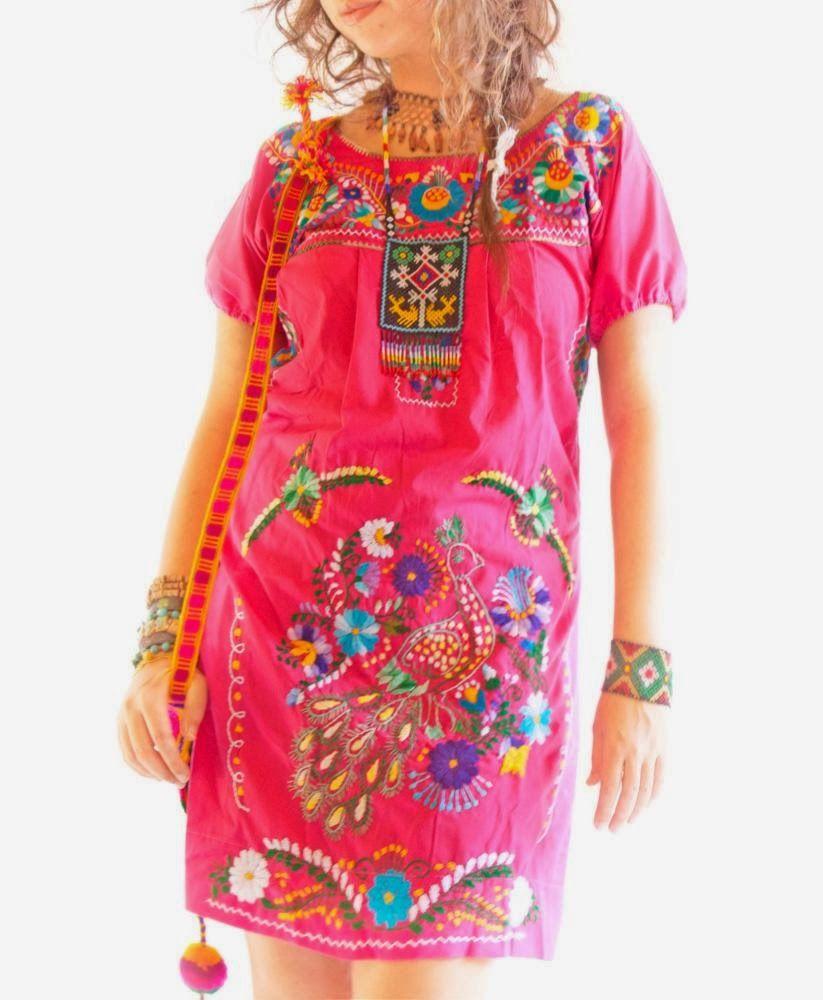 Maravillosos Vestidos bordados   ropa para q haga susi   Pinterest ...