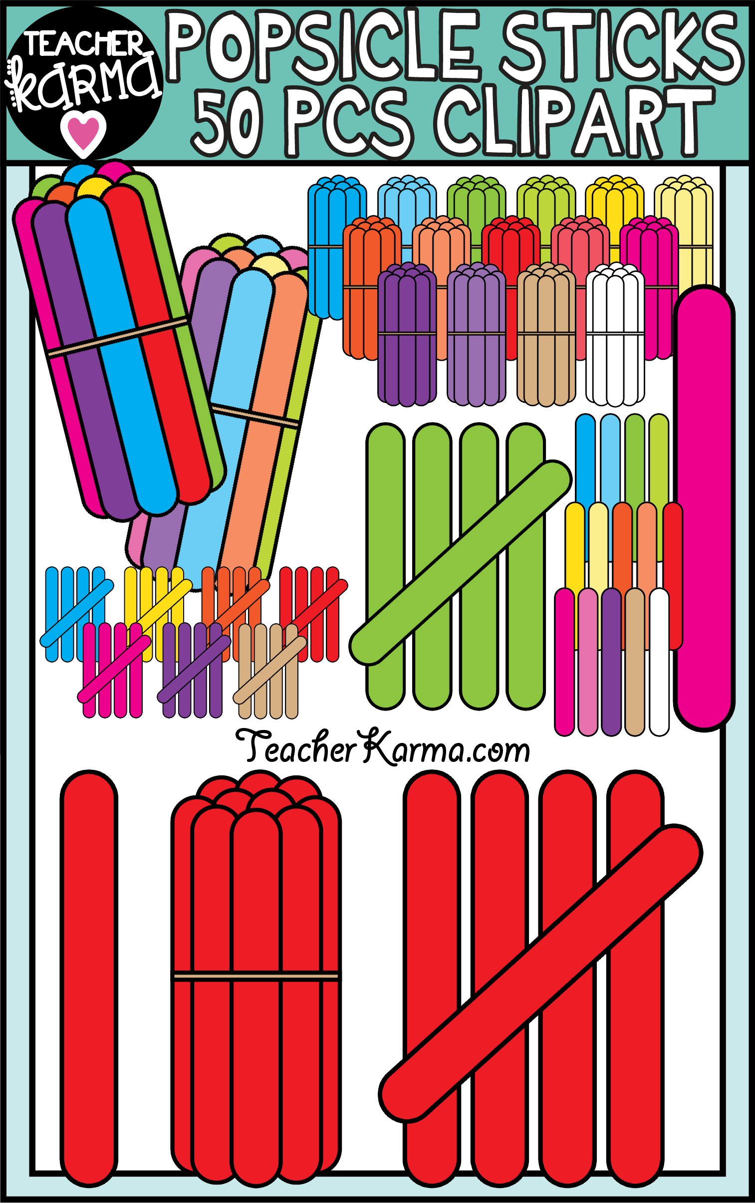 click on the popsicle sticks clipart kit to access and create your own math resources  [ 1513 x 2411 Pixel ]