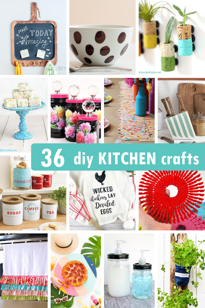 36 AWESOME DIY KITCHEN CRAFTS -- Projects for your kitchen ...