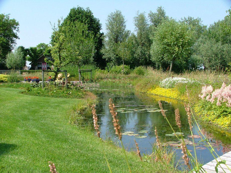 Natuurlijke vijver particuliere tuin te kamerik garden for Vijver in tuin