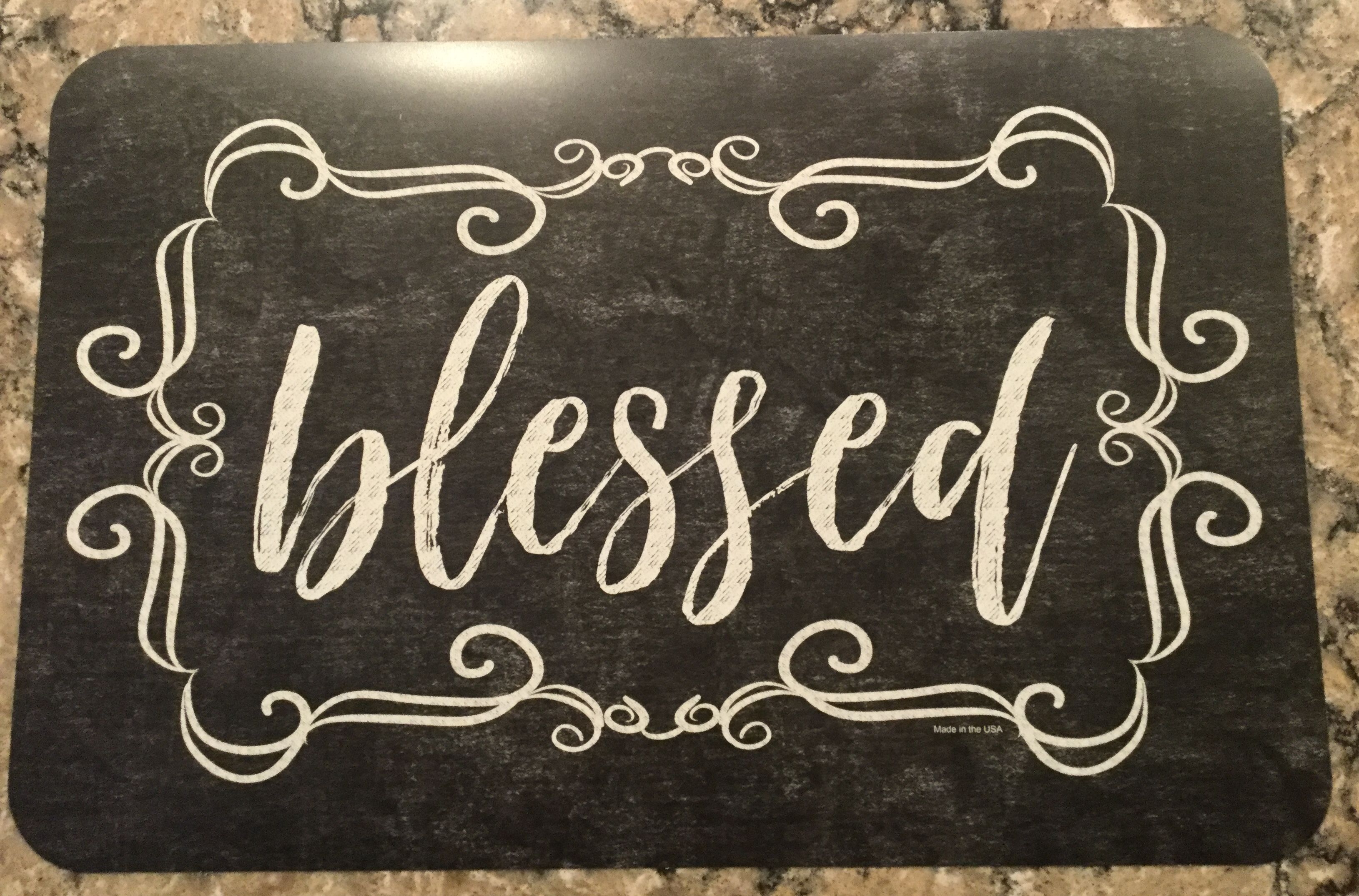 Dollar Tree Vinyl Placemats Blessed Chalkboard Placemats Farmhouse Wall Decor Vinyl Crafts