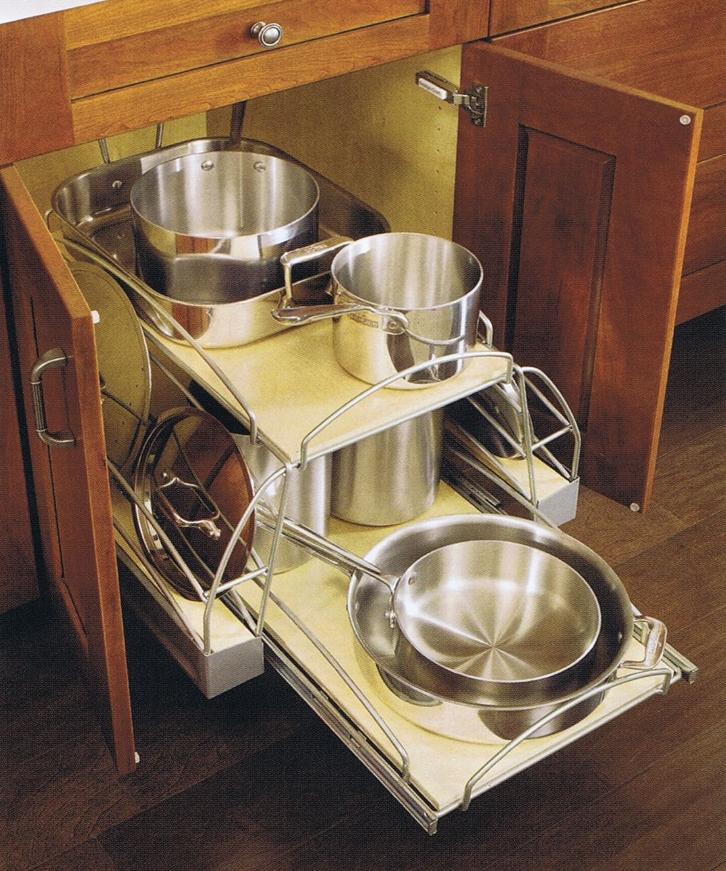 design craft cabinetry organization pan storage kitchen utensil organization diy kitchen on kitchen organization pots and pans id=52277