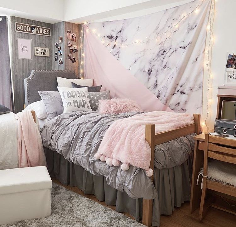 Pink And Grey Dorm Room Urban Outfitters