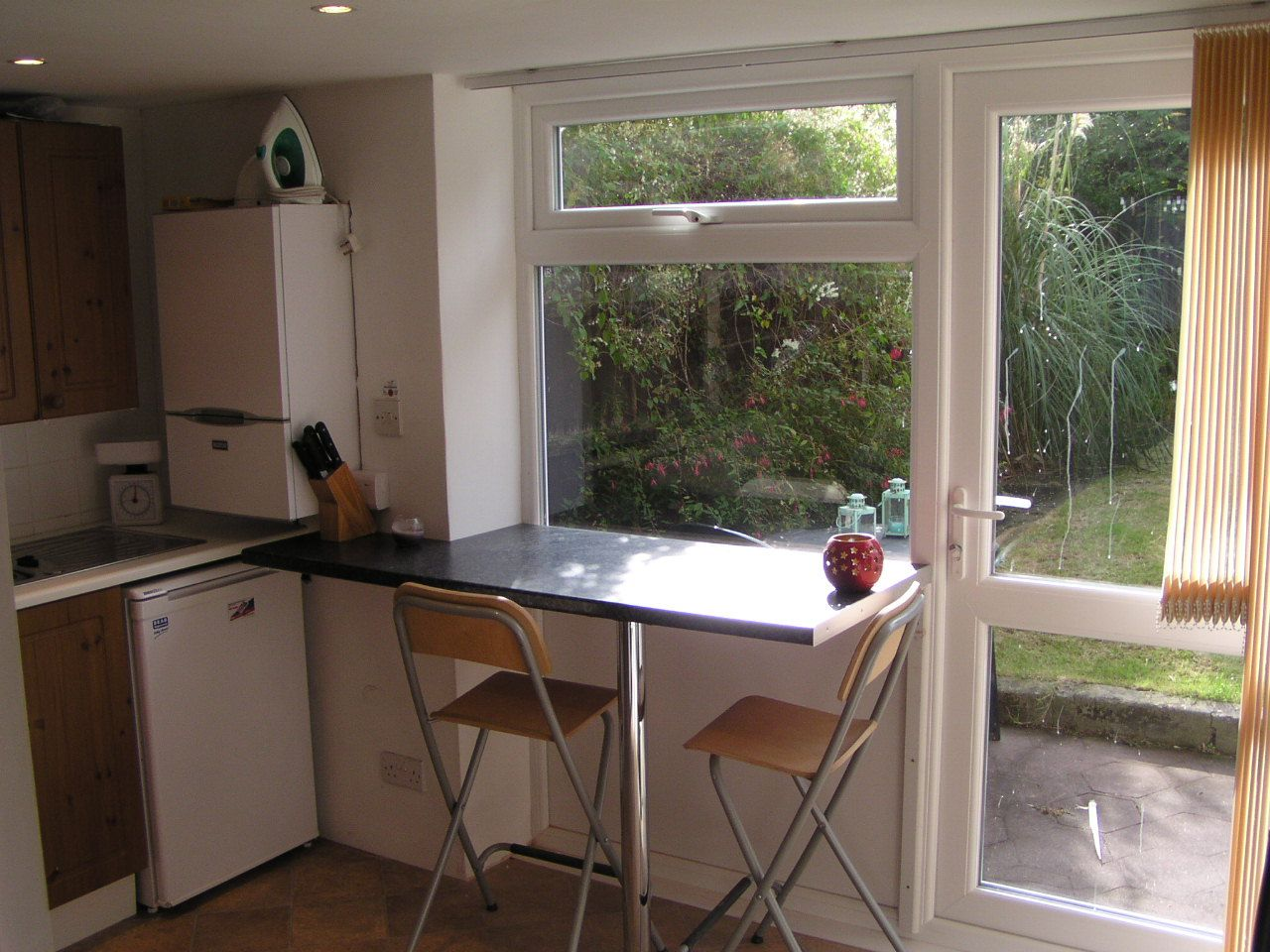 Exterior view counter across low window google search for Kitchen window bar ideas