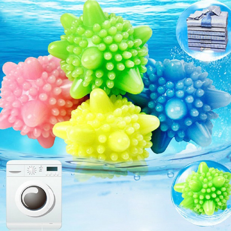1.01$  Watch now - 1PCS Convenient Clear Laundry Balls Fabric Washing Balls Clothes Cleaning Tool PVC Fashion Personal Care Ball Color Random   #buymethat