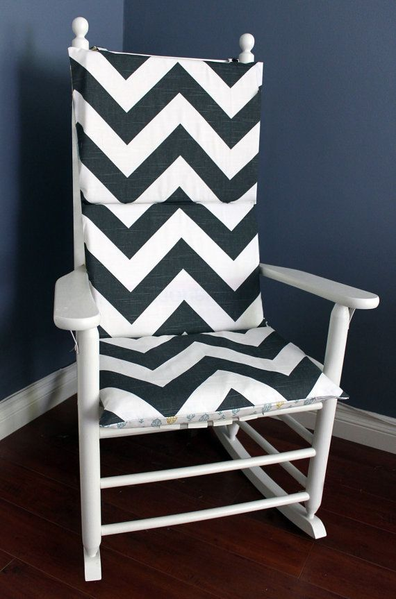 Fantastic Black White Chevron Zig Zag Rocking Chair Covers Pillows Short Links Chair Design For Home Short Linksinfo
