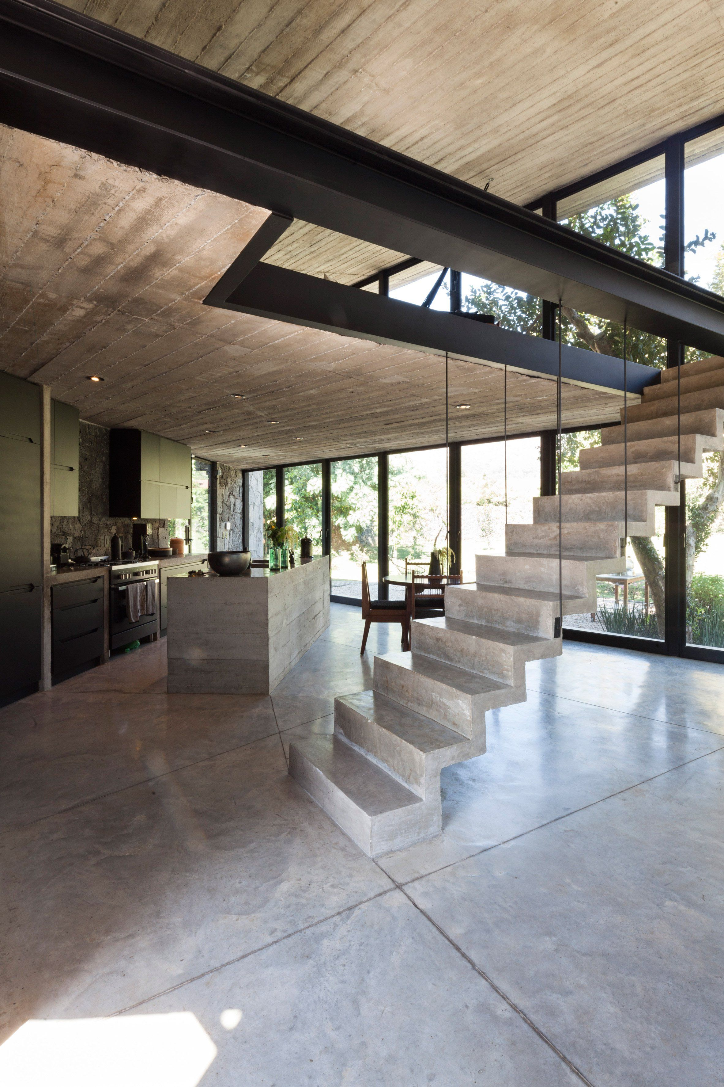 Ma house by cadaval sola morales stone houses mezzanine modern staircase design also the best interiors images on pinterest in contemporary rh