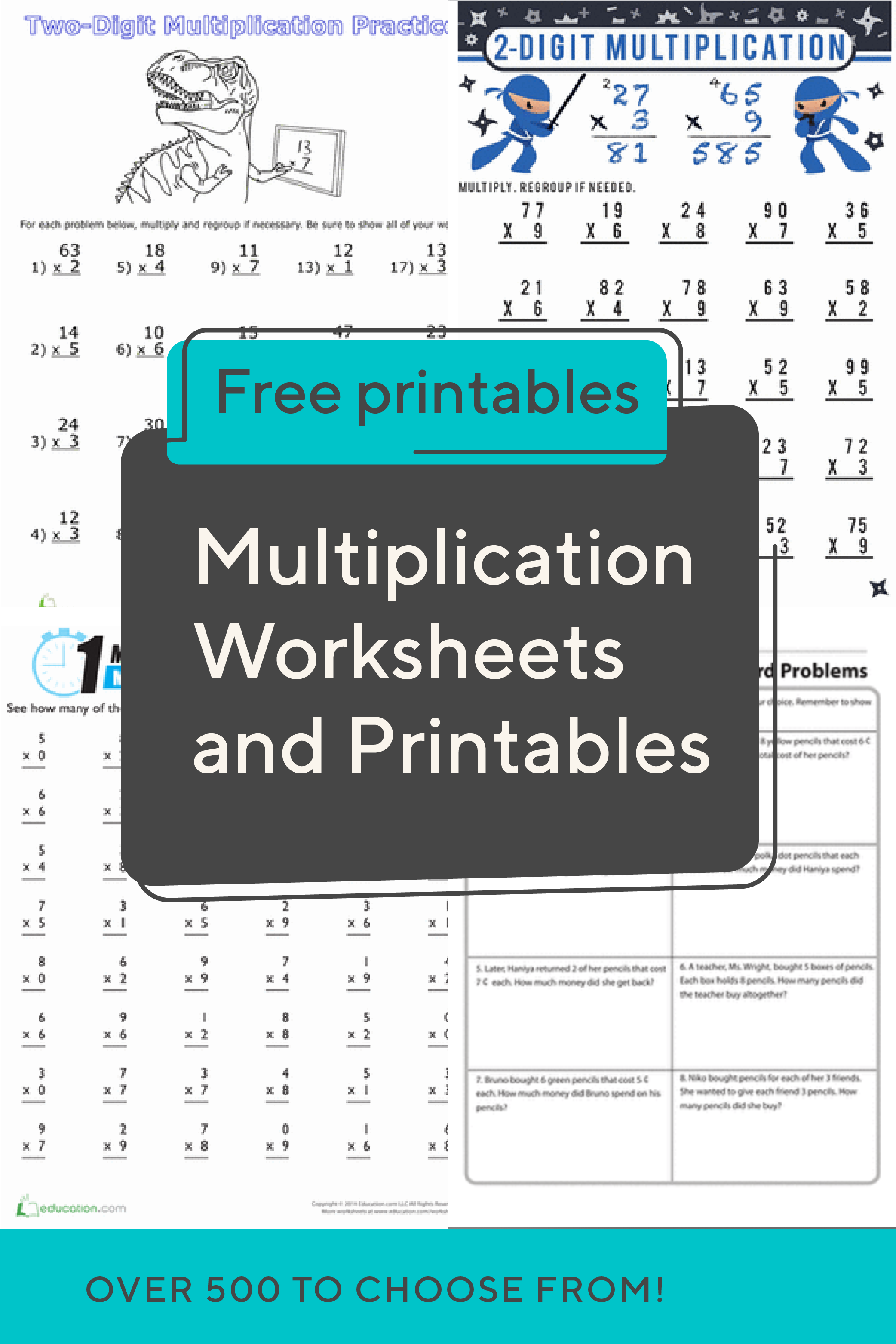 Multiplication Worksheets And Printables