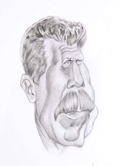 Ron Perlman with pencil