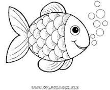 Image Result For Simple Outline Drawings For Kids Fish Cartoon Drawing Fish Coloring Page Rainbow Fish Template