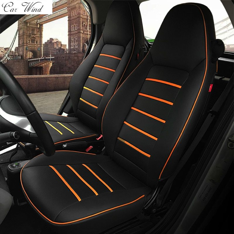 Car Wind Pu Leather Car Seat Covers For Mercedes Benz Smart Fortwo