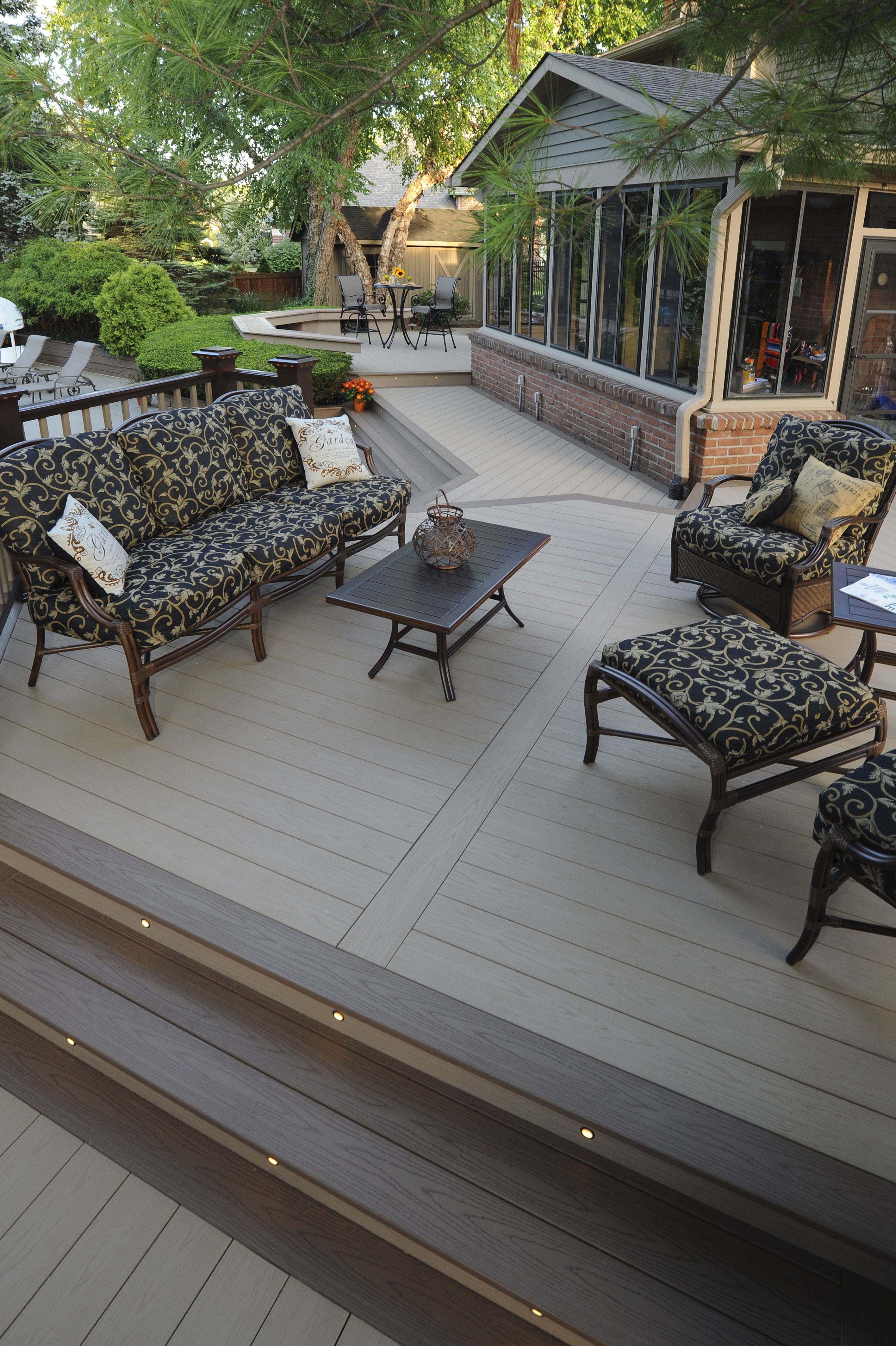 AZEK Decking Harvest Collection in Brownstone with Sedona