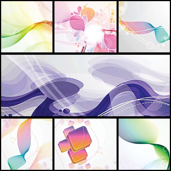 Illustrations and backgrounds abstract set vector