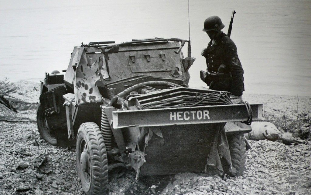Look at me Hector defiant Daimler Scout Car of the 14th
