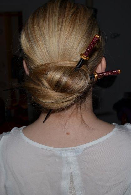 Katana Chopsticks Updo Chopstick Hair Hair Styles Diy