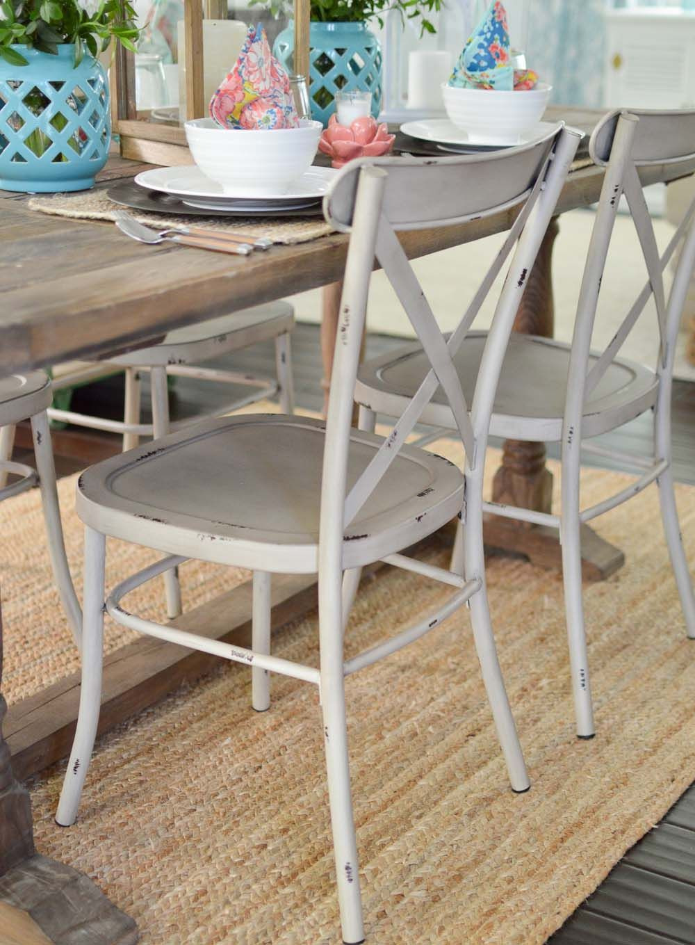 Collin Distressed Chairs. Via cottagefox. Dining chairs