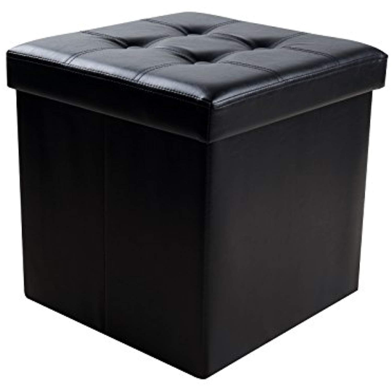 Super Sable Storage Ottoman Cube Foldable Bench 15 Faux Leather Gmtry Best Dining Table And Chair Ideas Images Gmtryco