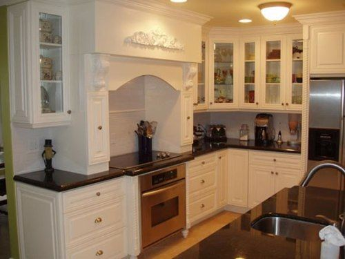 White Kitchen Cabinets With Tan Brown Granite Modern Countertops