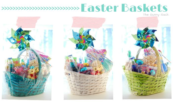 Kids easter baskets filled with items from cost plus world easter basket gift ideas for your kids adams homes negle Images