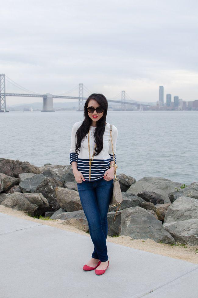 striped fancy sweater pants