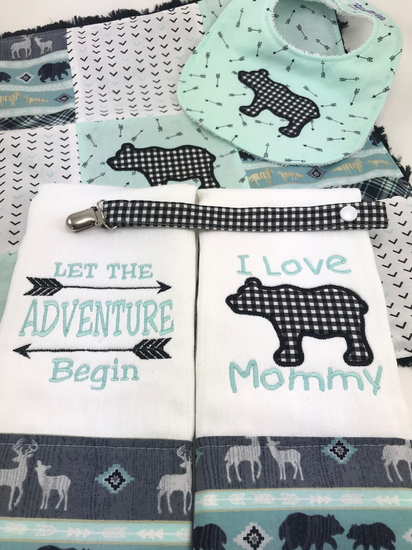 Baby gift setbaby burpclothsbaby bibbear baby gift set