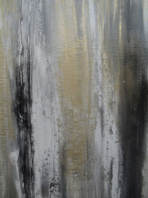 Gold and Grey Abstract Painting Gold canvas art by VortegaFineArt