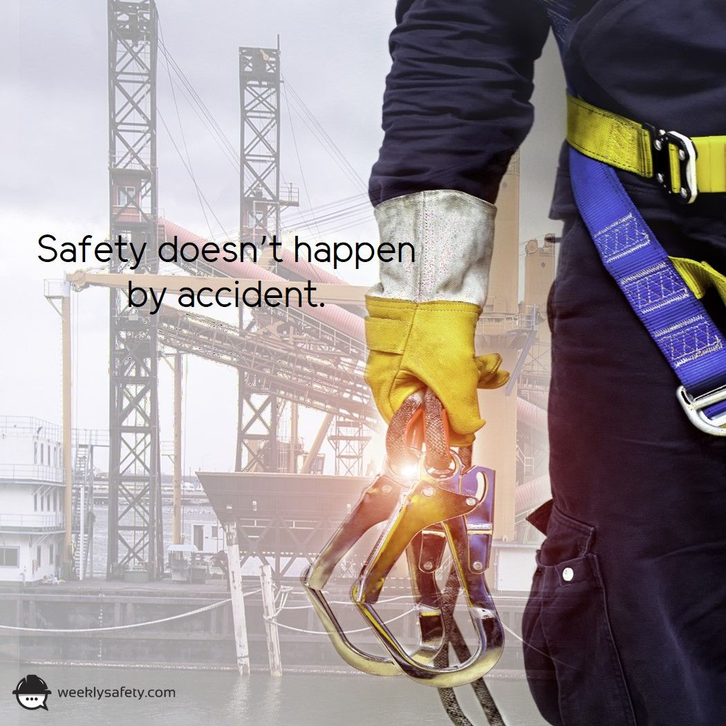 Safety doesn't happen by accident. Fall arrest system