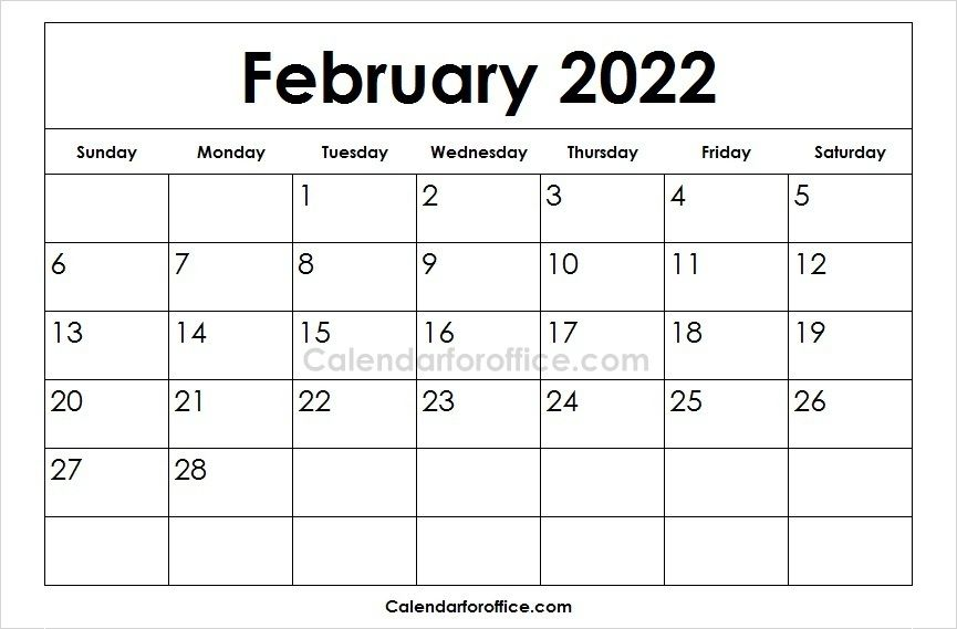Download Free Printable 2022 February Calendar In Different Formats This Is The Official Calendar P Calendar Template February Calendar May Calendar Printable