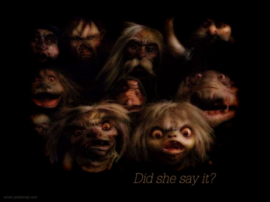 """did she say it?"" 