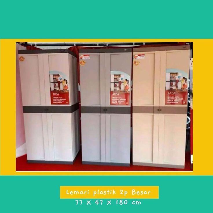 2 door plastic cabinet. Large size (77x48x180 cm) Material ….