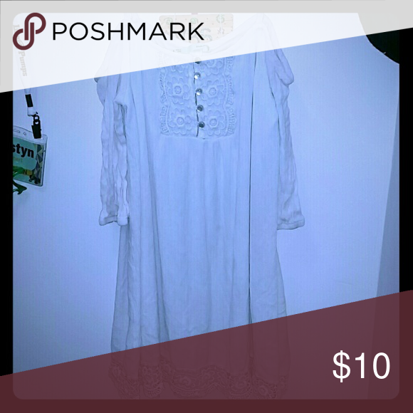 Nice off the shoulder white dress No stains, wore a few times Maurices Dresses Mini