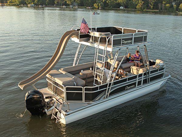 Premier Tritoon With Slide Pontoon Boat Boat Boat