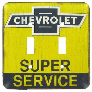 Chevrolet Super Service Metal Switch Plate Shop Hobby Lobby Light Switch Plate Cover Light Switch Covers Double Light Switch