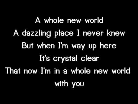 16 A Whole New World Lyrice Youtube Lyrics Unspoken Words A Whole New World