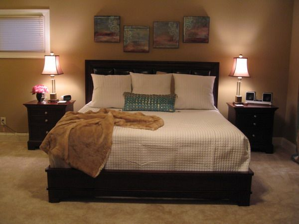 Minimalist Master Bedroom Lamps Decoration Ideas Picture ...