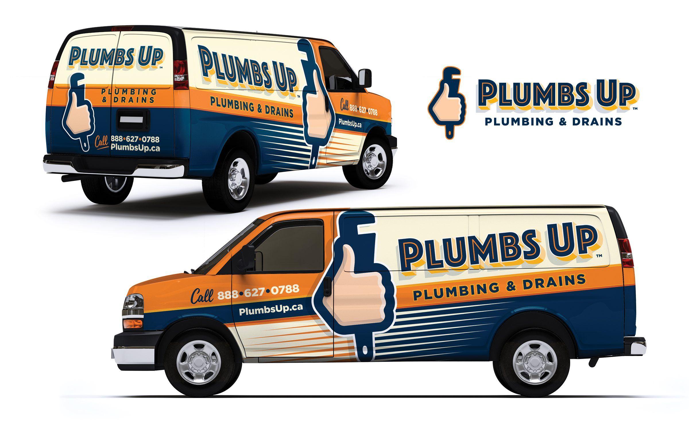Truck Wrap Design For Plumbs Up Plumbing Draining Nj