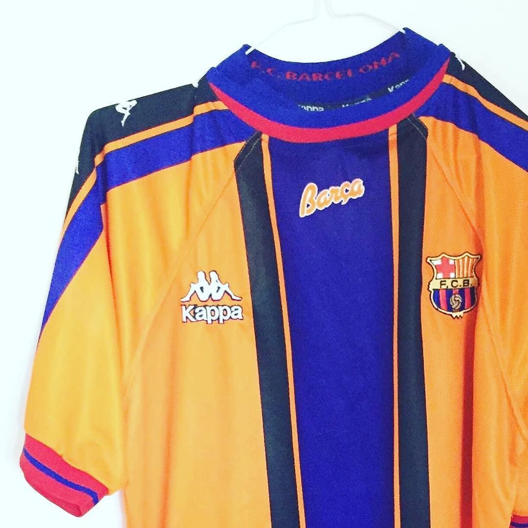 504b9c740 1997-98 Barcelona Away Shirt L - classic kappa Barca shirt. Get yours in  our shop now. DM for best offers  football  footballshirt   footballshirtcollective ...