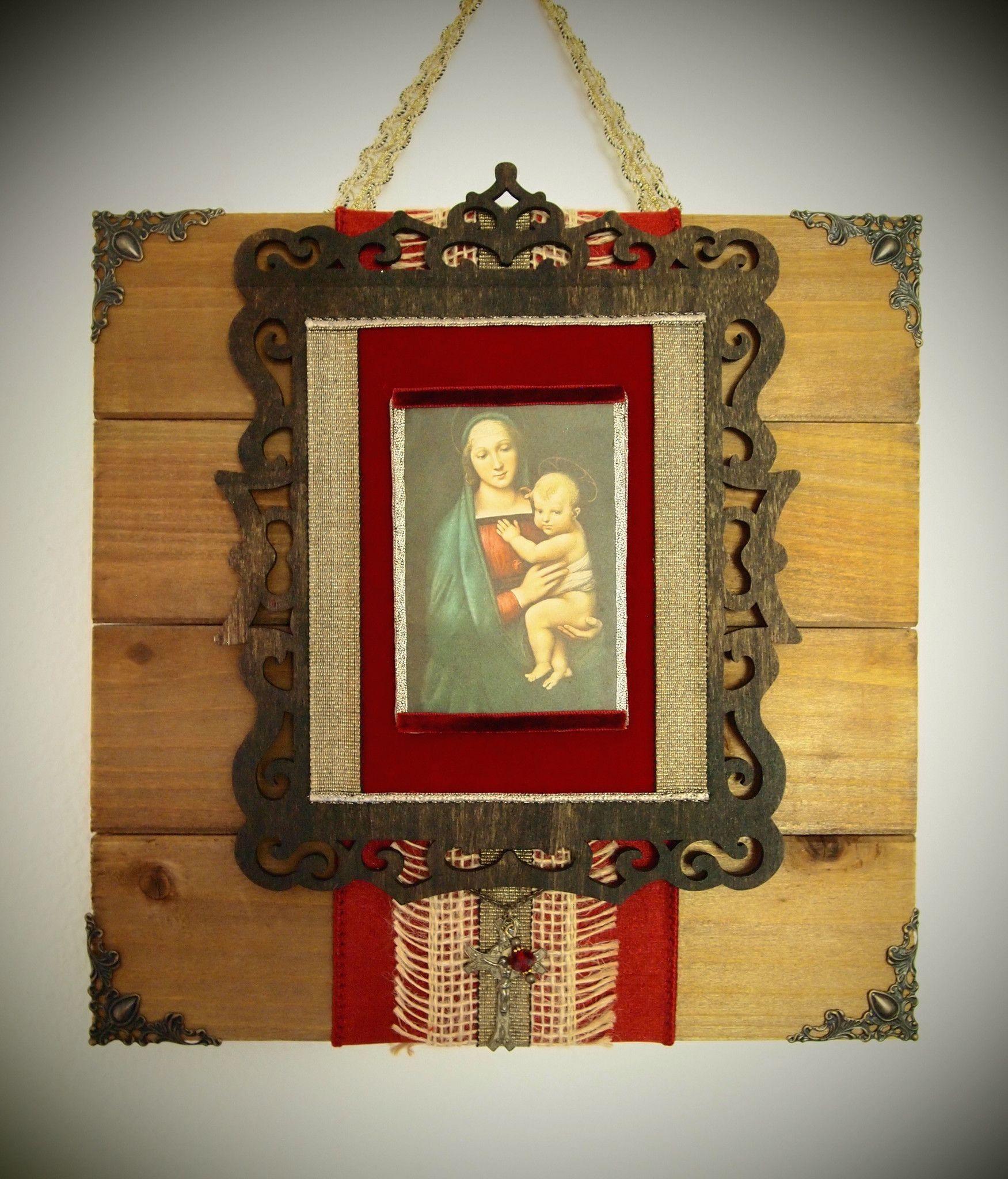 Virgin mary rustic wall art vintage catholic decor u gifts